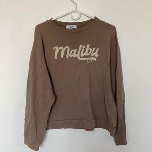 Carly Jean LA Malibu Printed Beige Sweater